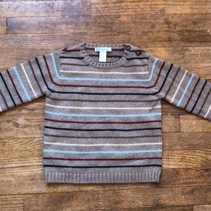 Janie and Jack Brown Striped Sweater